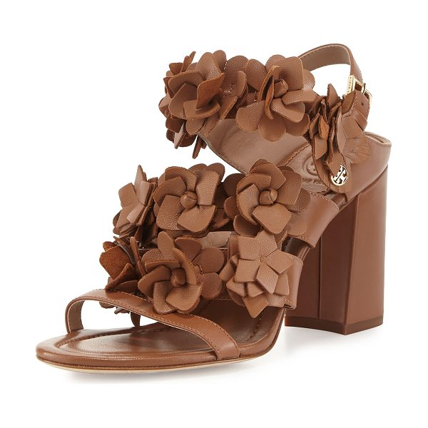 TORY BURCH Blossom Leather 65mm Sandal in beige - Tory Burch napa leather sandal. Available in multiple...