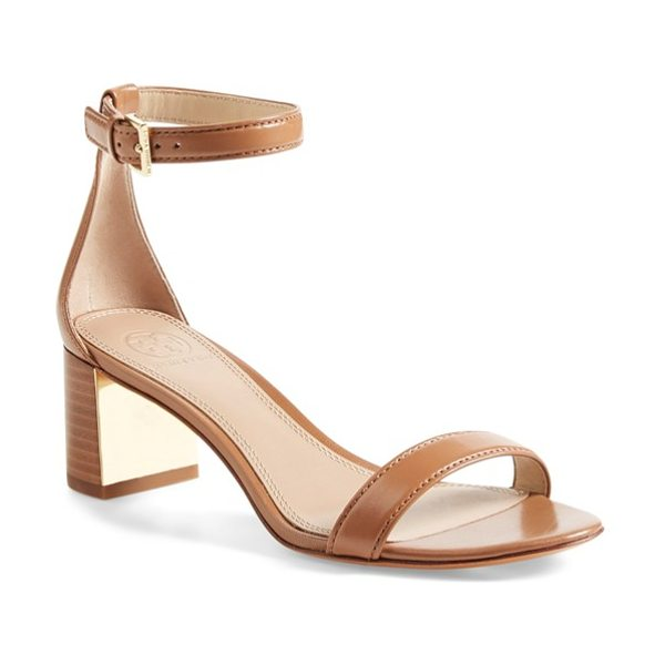 Tory Burch cecile ankle strap sandal in peanut butter - Sure to be a favorite this season, this minimalist...