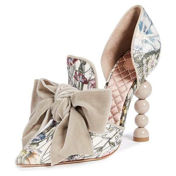 Tory Burch clara 110mm pumps in melody floral/taupe - Iridescent sequins add a glittering, eye-catching touch...