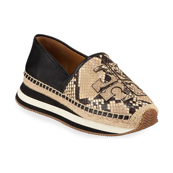Tory Burch Daisy Logo Trainer Sneakers in desert roccia blk