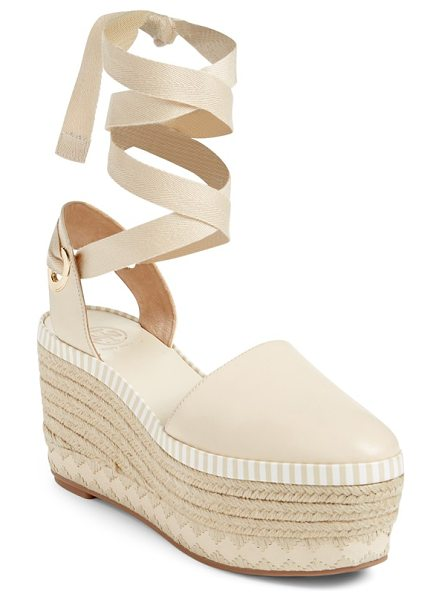 Tory Burch dandy platform espadrille in dulce de leche/ natural - A lofty platform dials up the vintage sophistication of...