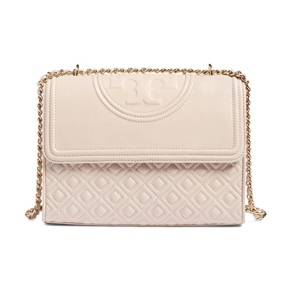 TORY BURCH 'fleming' convertible shoulder bag - A topstitched logo medallion crowns a diamond-quilted...