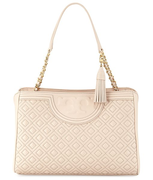 Tory Burch Fleming Diamond-Quilted Shoulder Bag in bedrock