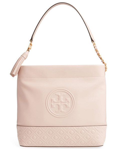 Tory Burch fleming leather hobo in pink