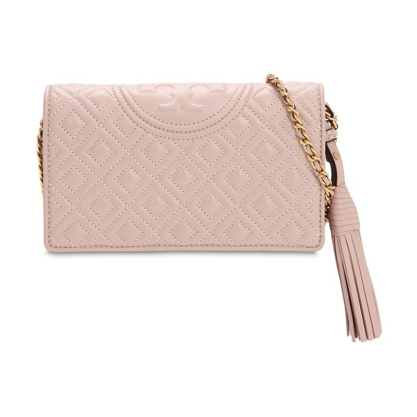 Tory Burch Fleming leather shoulder bag in pink