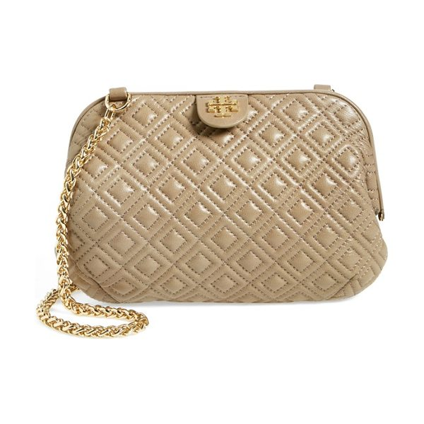 TORY BURCH Fleming quilted leather shoulder bag - Quilted leather in a distinctive diamond pattern and a...