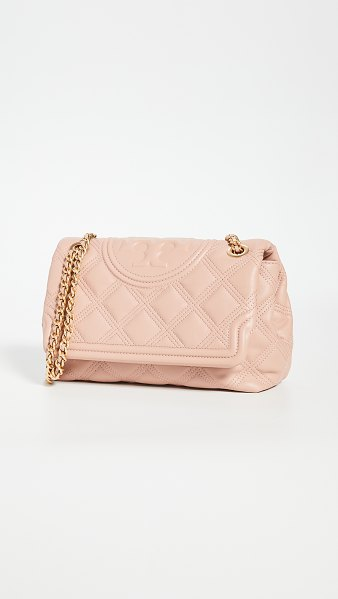 Tory Burch fleming soft convertible shoulder bag in pink moon