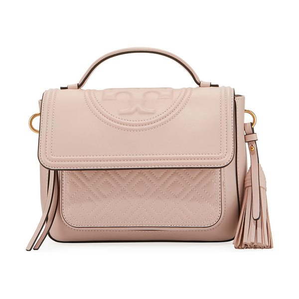 e6aa6c49f6ed 1234567 46db3 1718c  where can i buy tory burch fleming stitched leather  satchel bag in light pink tory burch