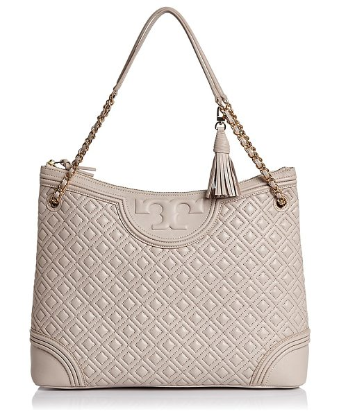 Tory Burch Fleming Tote in bedrock/gold - Tory Burch Fleming Tote-Handbags