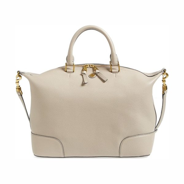 TORY BURCH Frances slouchy leather satchel - Contrast-painted edges accentuate the relaxed silhouette...