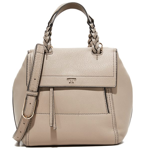 Tory Burch half moon small satchel in french gray - A slouchy Tory Burch bag in pebbled leather. A magnetic...