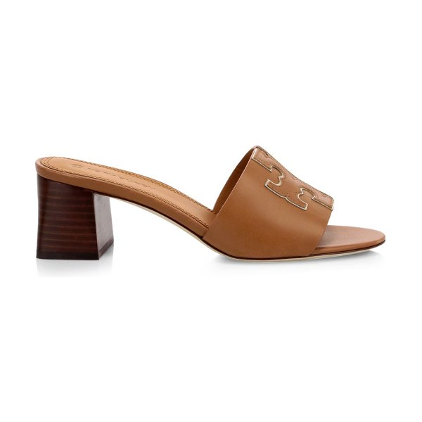 Tory Burch ines leather mules in tan gold