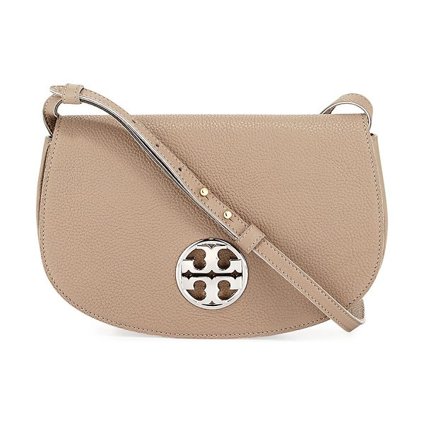 Tory Burch Jamie Leather Clutch Bag in french gray - Tory Bruch grained leather clutch bag. Golden hardware....