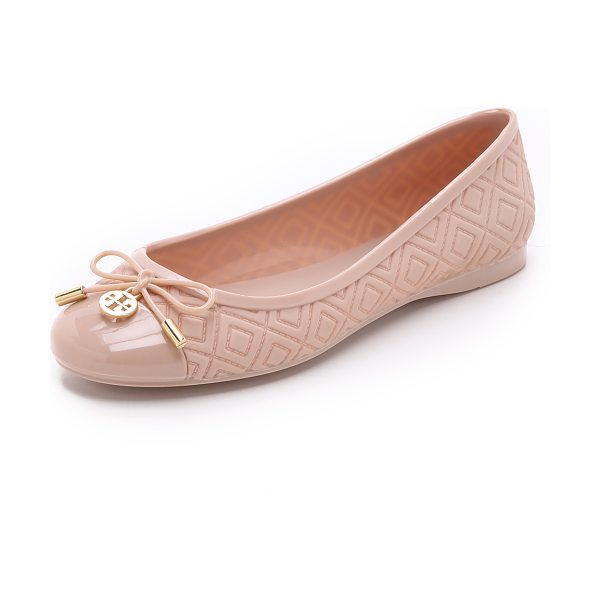 Tory Burch Jelly ballet flats in blush - An embossed pattern creates a quilted effect on these...