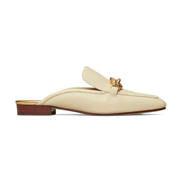 Tory Burch jessa leather horsebit backless loafers in new cream