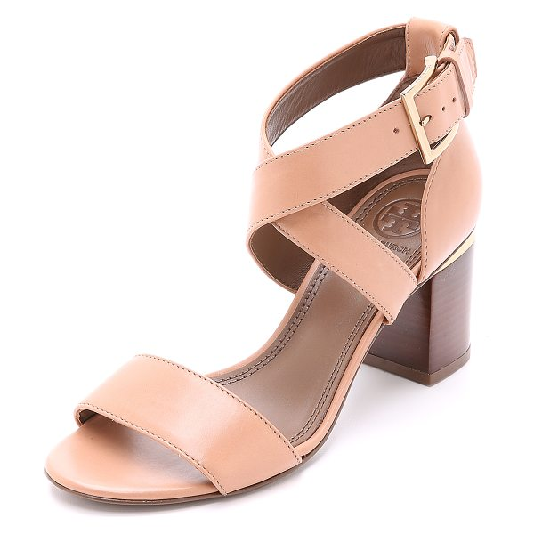 Tory Burch Jones sandals in makeup - Versatile Tory Burch sandals with polished metal banding...