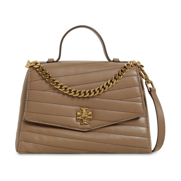Tory Burch Kira chevron quilted leather bag in taupe