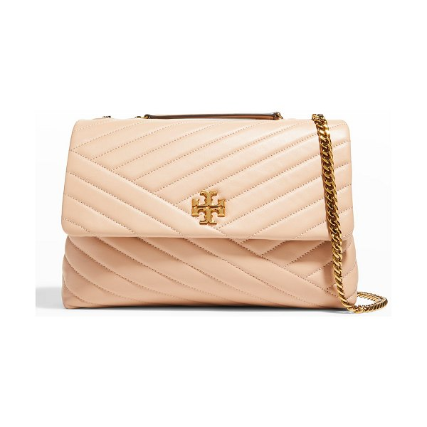 Tory Burch Kira Chevron Quilted Shoulder Bag in sand
