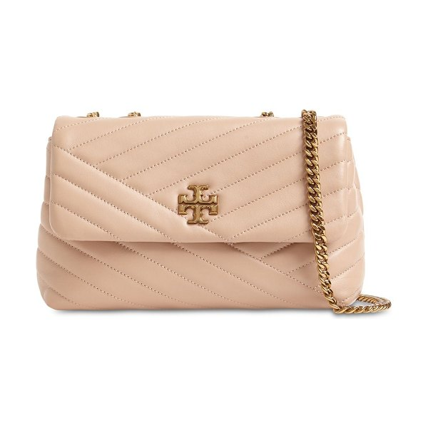 Tory Burch Kira small chevron quilted leather bag in devon sand