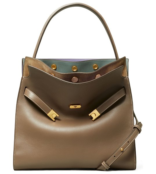 Tory Burch Lee Radziwill Double Satchel Bag in clam shell