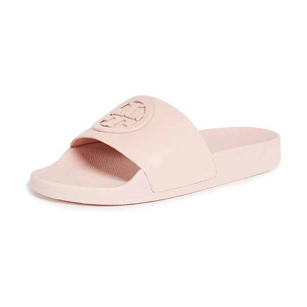 Tory Burch lina slides in shell pink