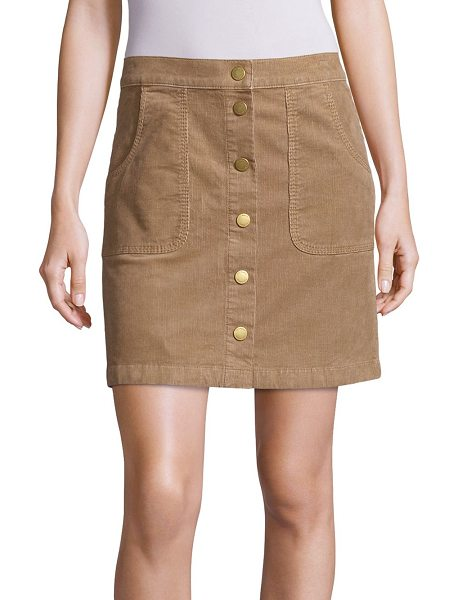 TORY BURCH lucitano corduroy skirt - Corduroy A-line skirt updated with button front. Banded...
