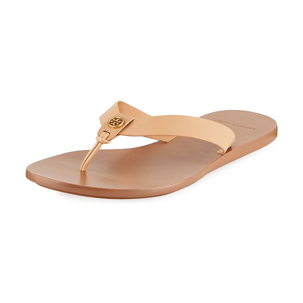 Tory Burch Manon Leather Thong Sandals in natural