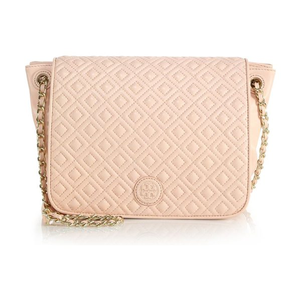 TORY BURCH Marion quilted leather satchel - Quilting and a chain strap elevate this...