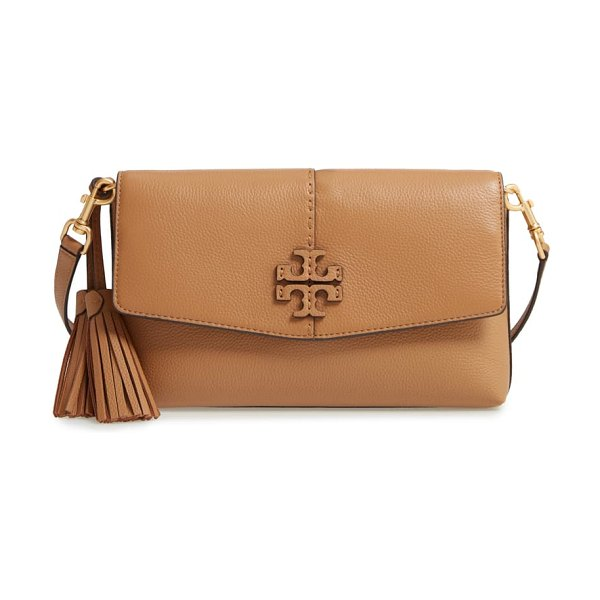 Tory Burch mcgraw leather crossbody bag in brown