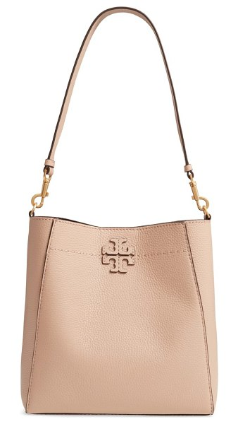 Tory Burch mcgraw leather hobo in beige