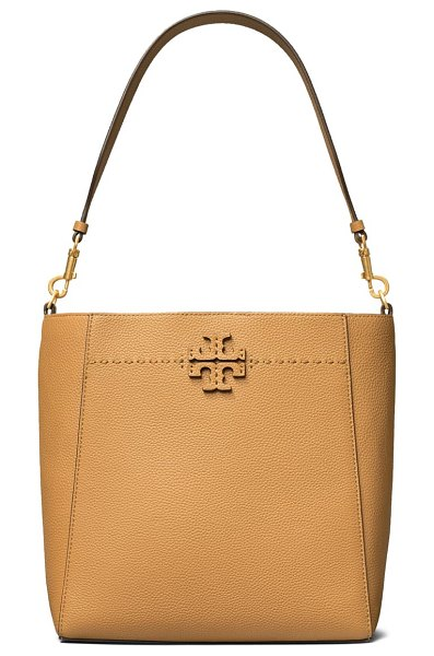 Tory Burch mcgraw leather hobo in brown