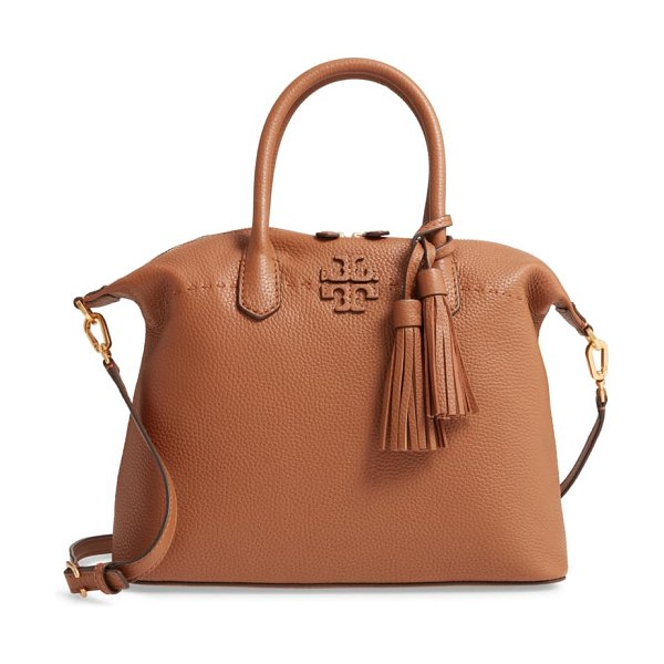 Tory Burch mcgraw slouchy leather satchel in brown