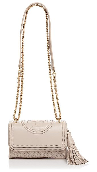 Tory Burch Micro Fleming Crossbody in bedrock/gold - Tory Burch Micro Fleming Crossbody-Handbags