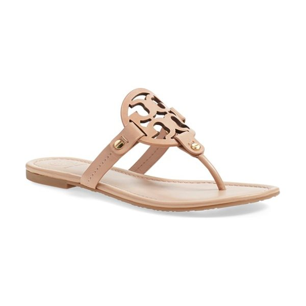 TORY BURCH 'miller' flip flop in makeup - A breezy, cleanly styled flip-flop features a bold logo...