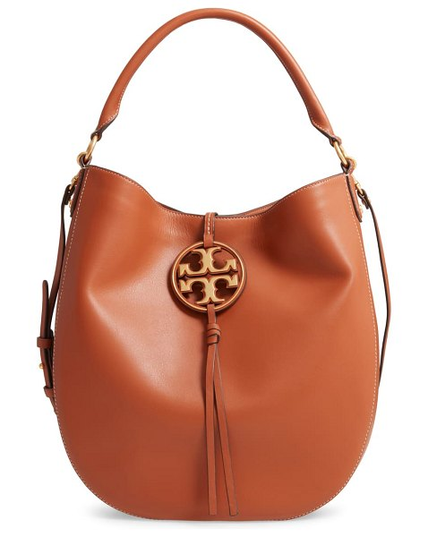 Tory Burch miller leather hobo bag in brown