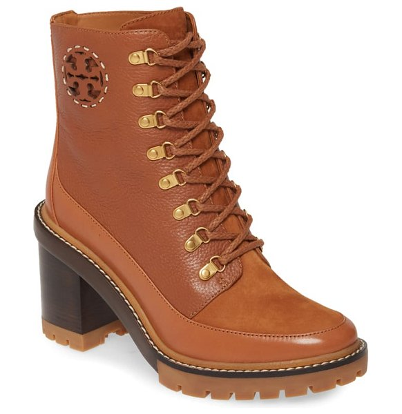 Tory Burch miller lug sole bootie in brown