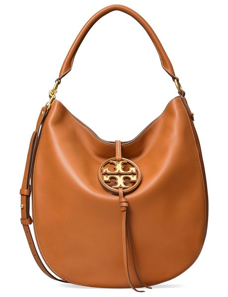 Tory Burch miller metal leather hobo bag in aged camel