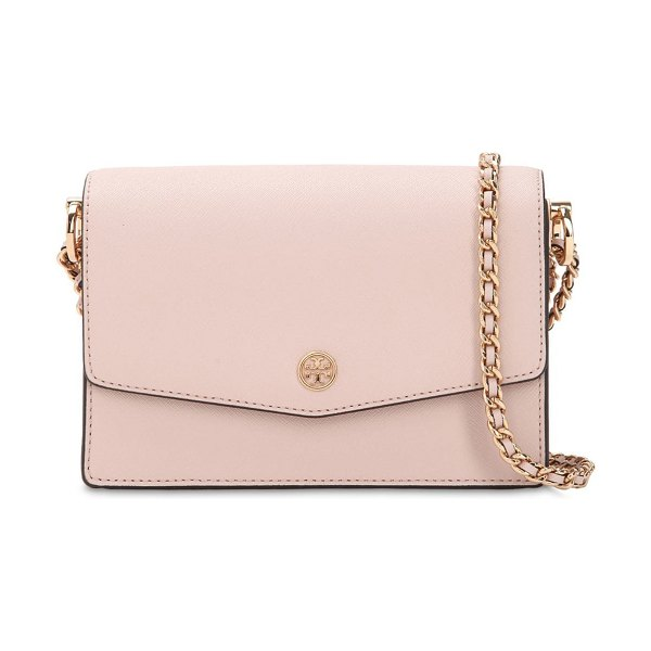 Tory Burch Mini robinson leather shoulder bag in pink