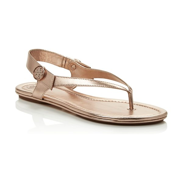 Tory Burch Minnie Metallic Thong Sandals in rose gold - Tory Burch Minnie Metallic Thong Sandals-Shoes