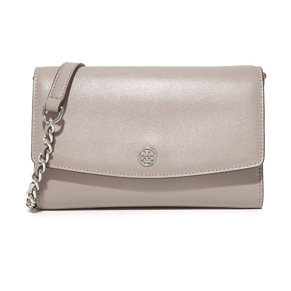 Tory Burch parker chain wallet in dust storm - A large Tory Burch wallet in slightly textured leather....