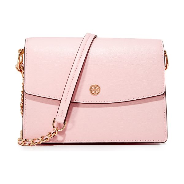 Tory Burch parker convertible shoulder bag in pink quartz - Subtly textured leather composes this polished Tory...