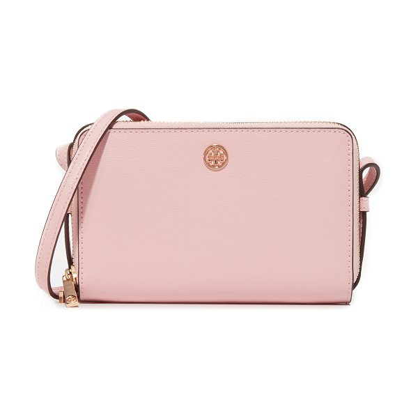 Tory Burch parker double zip mini bag in pink quartz - A petite Tory Burch bag in a boxy silhouette. A logo...