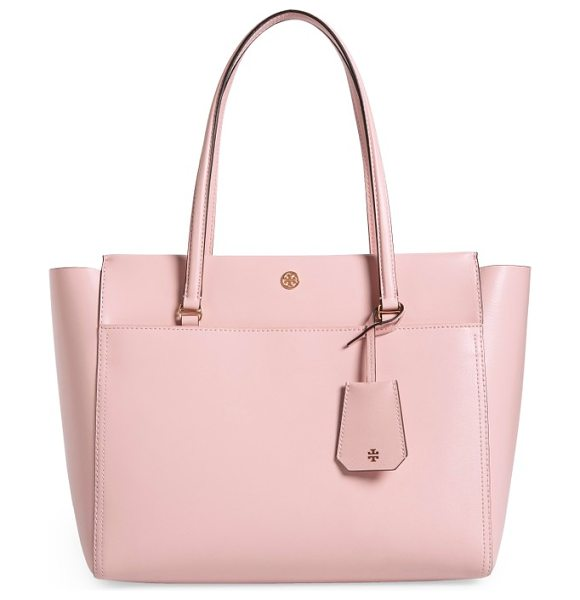 Tory Burch parker leather tote in pink quartz leather / cardamom - A bag that can keep up with you and look super-chic?...
