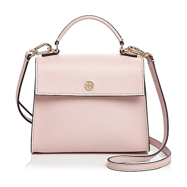 Tory Burch Parker Small Leather Satchel in pink quartz/gold - Tory Burch Parker Small Leather Satchel-Handbags