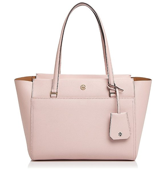 Tory Burch Parker Small Leather Tote in pink quartz/gold - Tory Burch Parker Small Leather Tote-Handbags