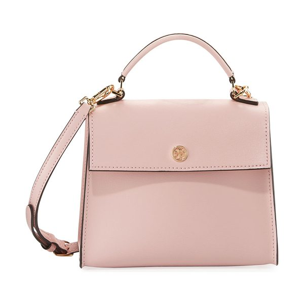 Tory Burch Parker Top Handle Crossbody Bag in pinkquartz/cardam - Tory Burch leather crossbody bag with golden hardware....