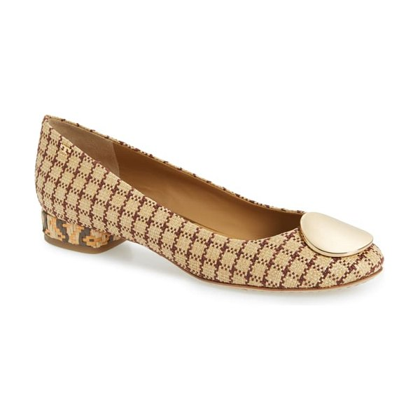 Tory Burch patos medallion flat in brown