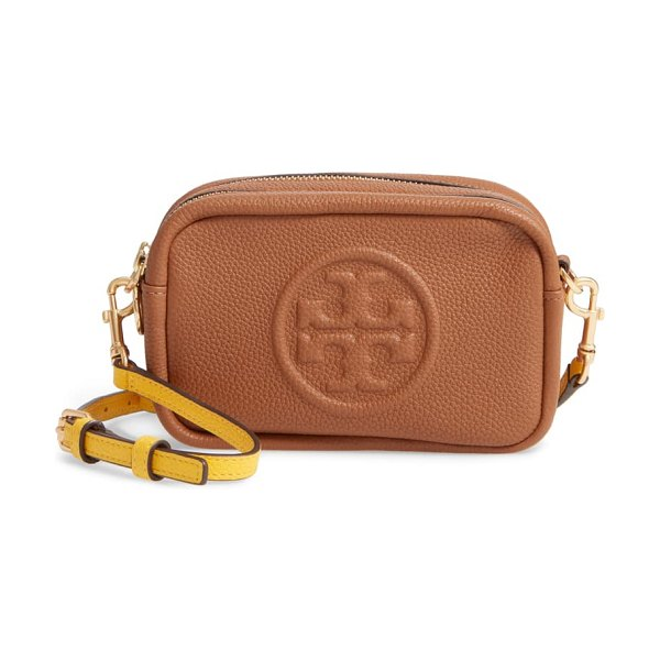 Tory Burch perry bombe leather crossbody bag in brown