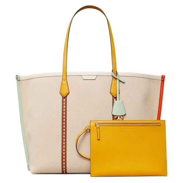 Tory Burch perry canvas tote in natural
