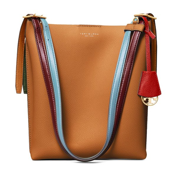 Tory Burch perry leather bucket bag in brown